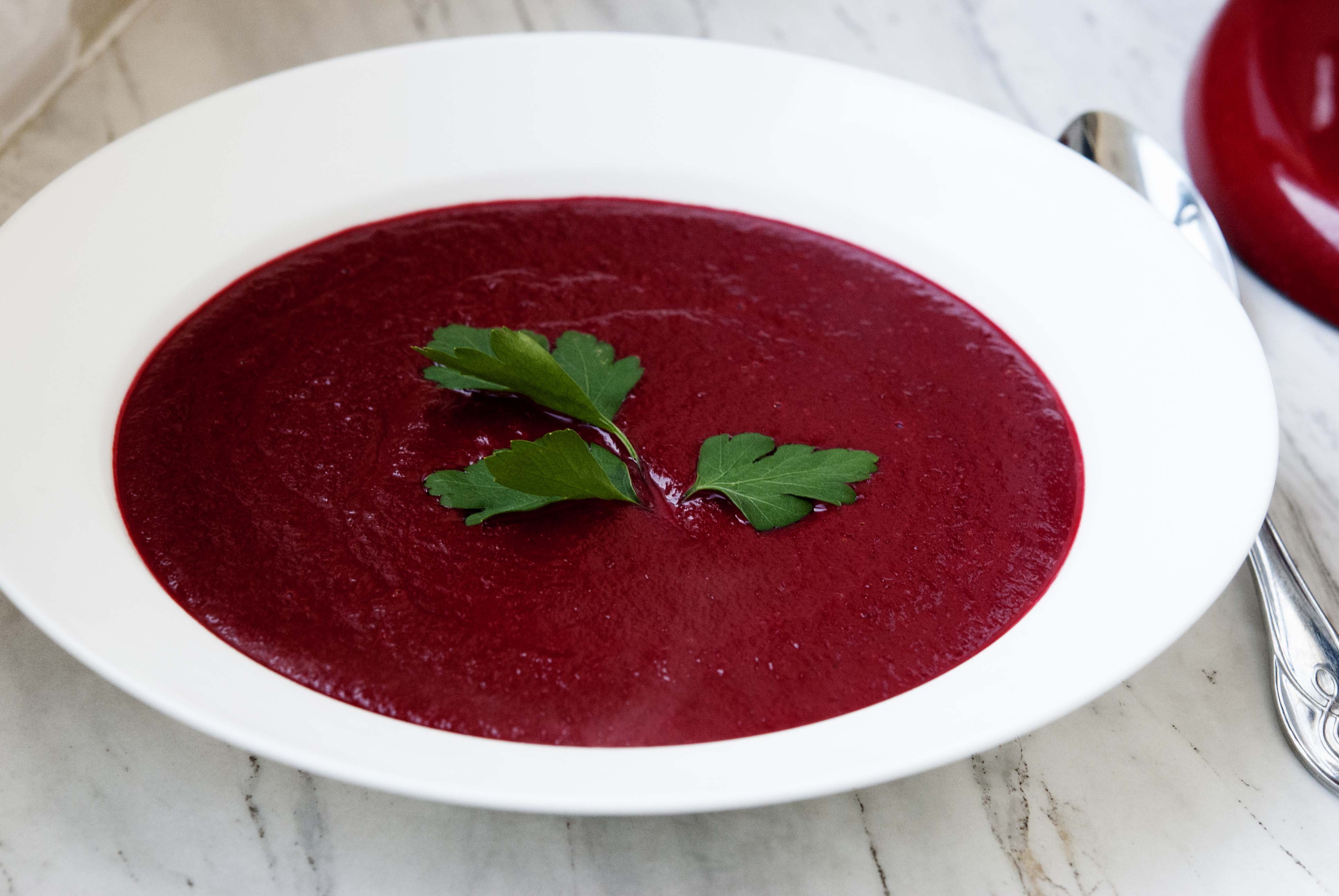 Beet, Ginger and Coconut Milk Soup | The Fit Mediterranean