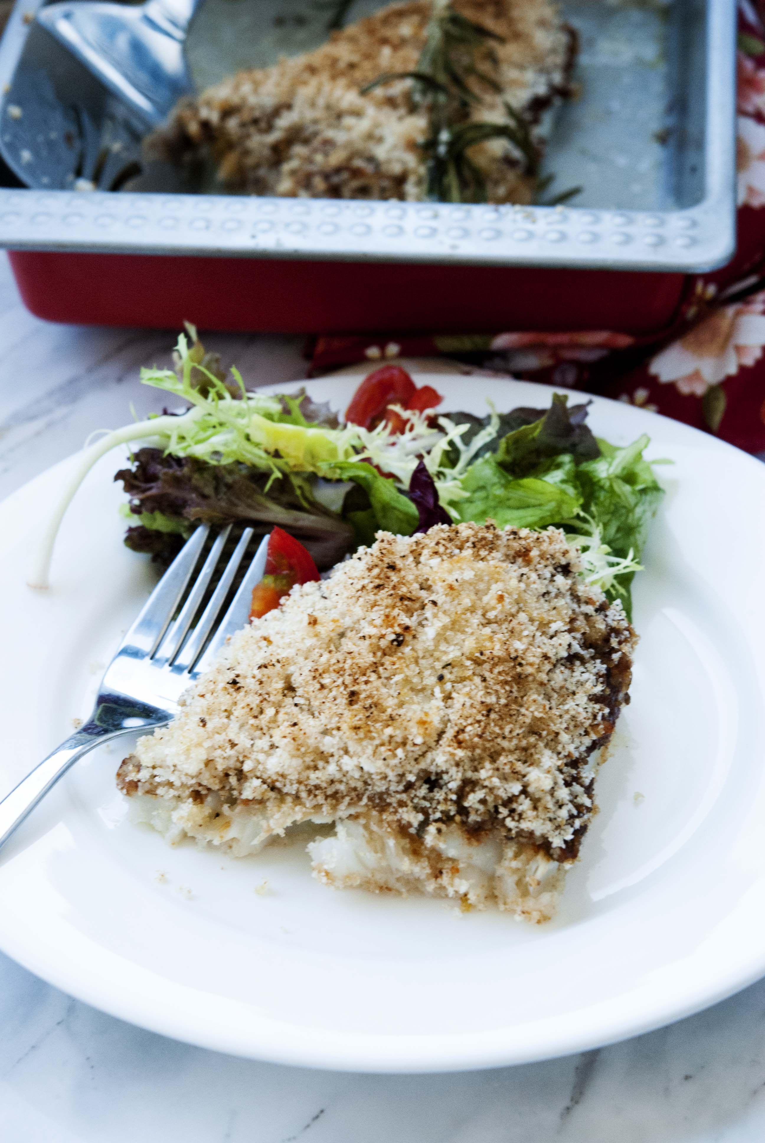 Jamie Oliver S Crusted Cod The Fit Mediterranean